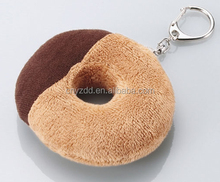 plush food keychain/stuffed 10cm bread keyring toy/cute and cheap plush toy keychain