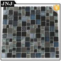 Restaurant Design Anti-Dust Metal Mix Marble Glass Tiles Mosaic