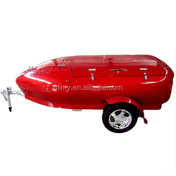 China customized high capacity useful fiberglass scooter trailer