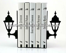 Decorative LANTERN metal bookends book stand
