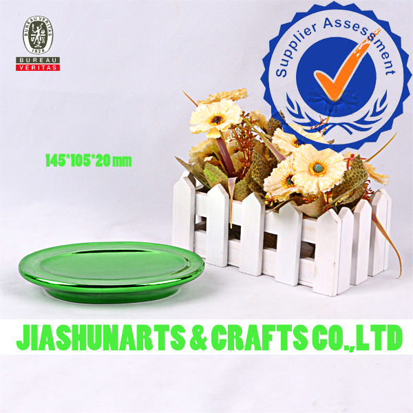 Green Plating Ceramic Bath soapdishes