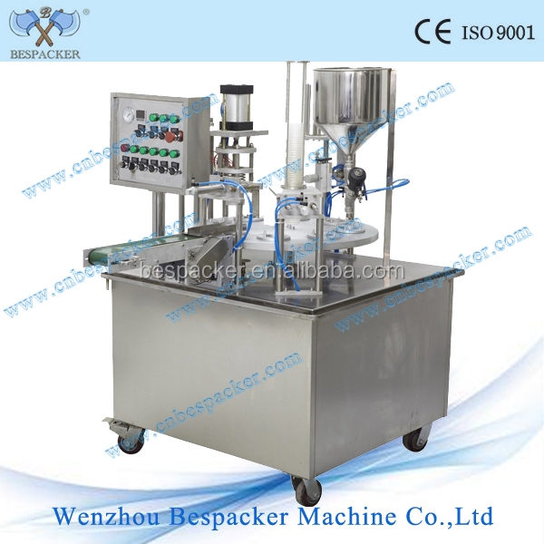 rotary type automatic shantou pudding cup filling sealing machine