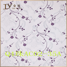 Home flower plastic film pvc decor purple wallpaper Q4AC02-35A