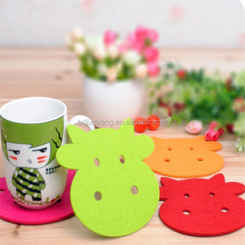 Hot selling Customized bulk felt rug felt pad for coasters