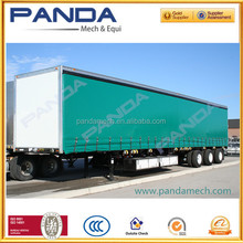 PANDA Hot sale 40 feet 3 axle enclosed flatbed cargo trailer for sale