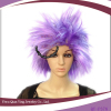 cheap synthetic short halloween purple wig