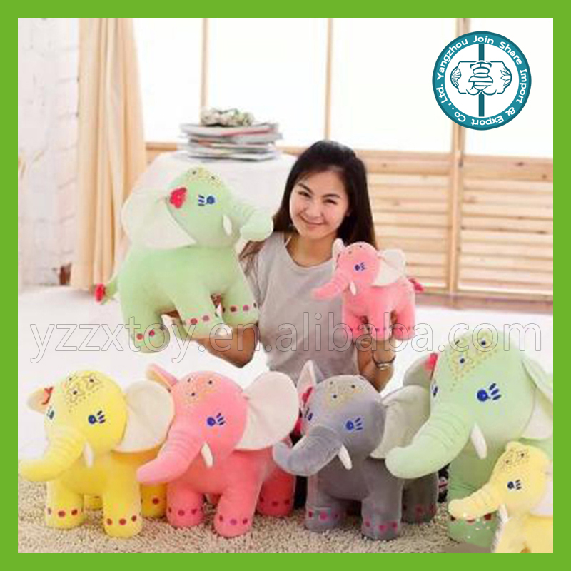 Colorful plush elephant toy animal soft toy have sound
