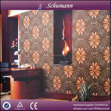 2015 classic pattern nice color damask 3D Suede wallpaper