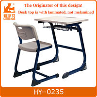 Metal + MFD traditional school desk with chair