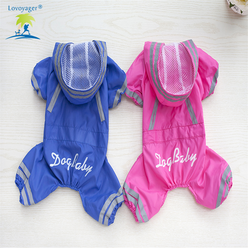 Lovoyager pet clothes small dogs raincoat poodle waterproof dog rain coat with legs reflective