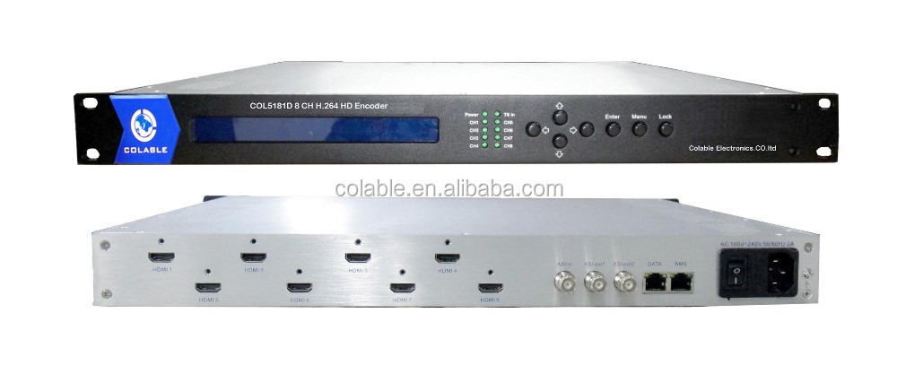 Year end promotion !! HD MI input 8 channels h . 264 /mpeg4 encoder with ip asi out COL5181D