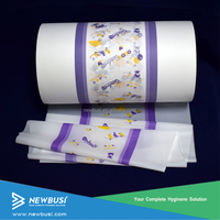 Color Printed Laminated PE Film cloth-like Backsheet for Baby Diapers