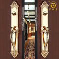 Entrance gold plated brass door handles
