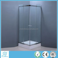CROWN modern corner standing square ABS tray and chrome aluminum hot sale shower enclosures