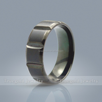 Fashion jewelry engagement band ring gay men ring black titanium ring