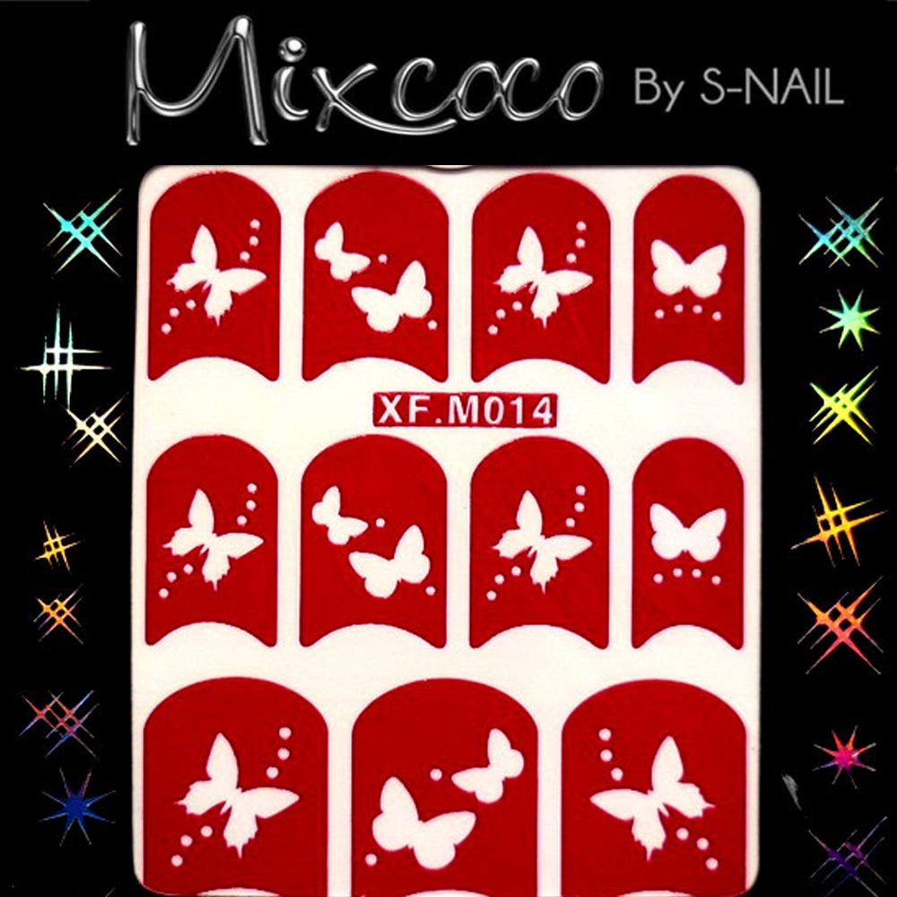 Custom DIY mixed patterns Nail Art Sticker Stencil Hollow-out Nail Sticker