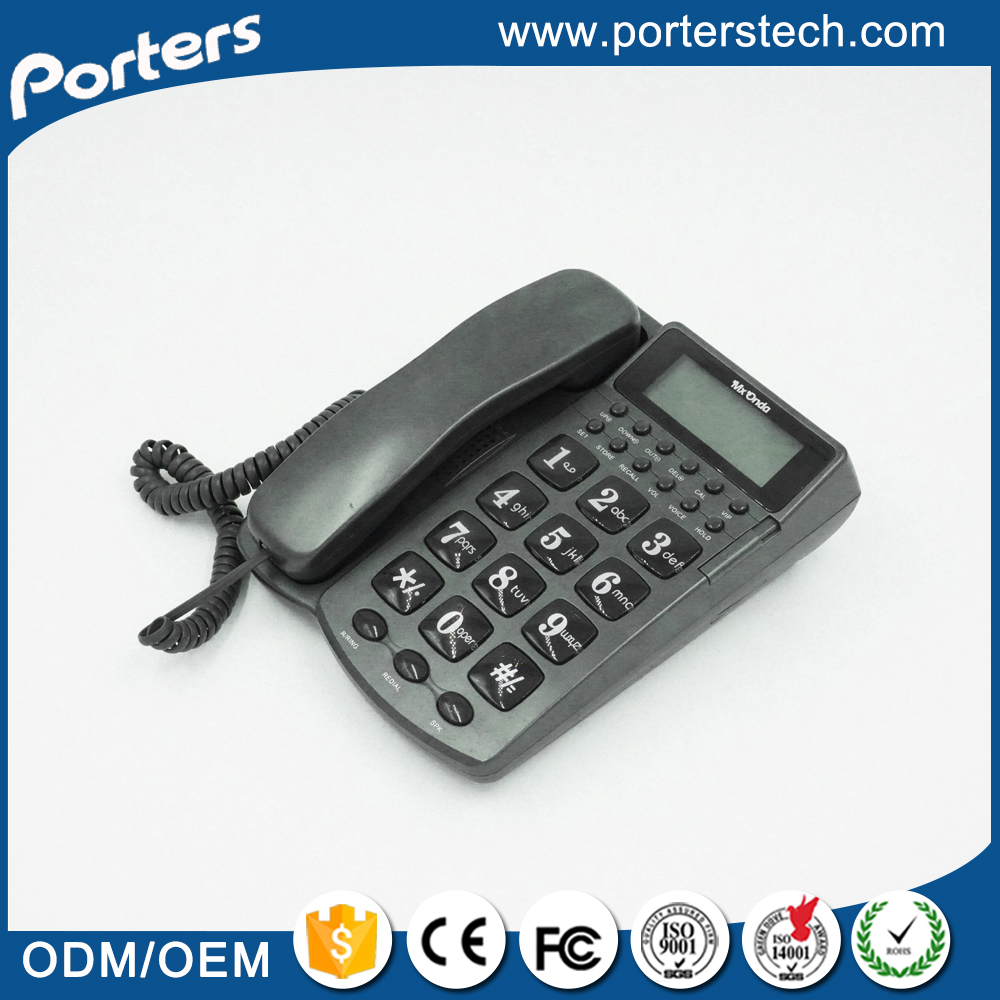 Indoor big screen fashionable contact number caller id telephone