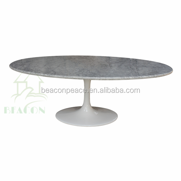 Hotsale Marble Oval Tulip Dining Table
