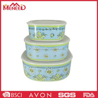 Japanese style lunch box melamine plastic mixing bowl with lids