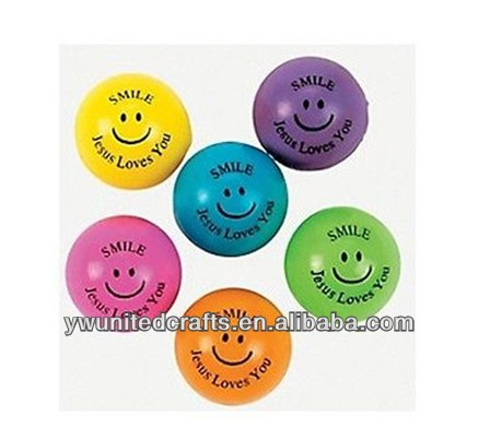 OEM High Quality Smile Jesus Loves You Bouncing Balls