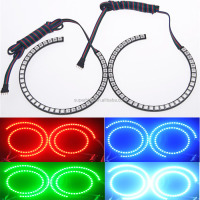 RGB multi color 131mm + 146mm semi circle ccfl angel eyes for BMW E46 headlight