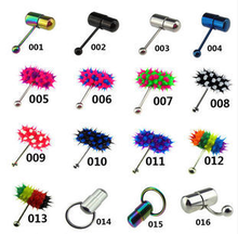 2015 hot sale 316L surgical vibrating tongue piercing for Piercing Body Jewelry