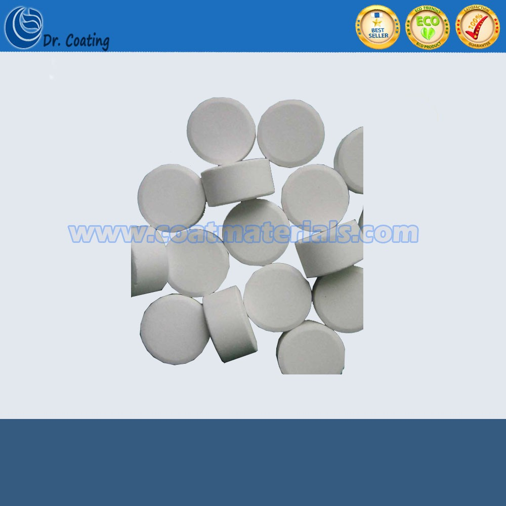 wholesales factory price sinter tablet zinc sulfide optical material coating/Zinc sulfide tablet ZnS tablet for sale