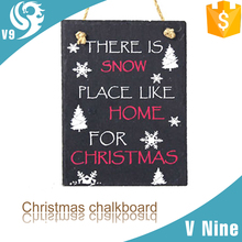 square carved stone wall hanging decoration slate message board