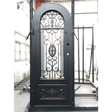 New models luxury exterior single front arch wrought iron door