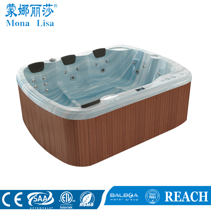 8 people use economic stainless steel jet massage outdoor spa tub (M-3328)