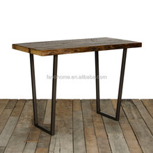 pub cafe industrial reclaimed wood bar table