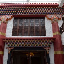 high quality china factory architectural ornamental grc material Tibet style building components
