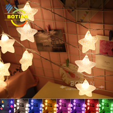 China unique crack star waterproof multi color outdoor christmas star light