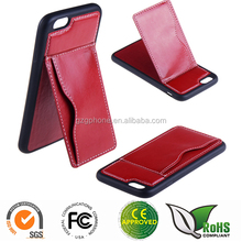 Special design mobile phone case for iphone6 with pocket and stand function