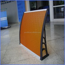 High impact strength corner awning canopy with wind pressure tests