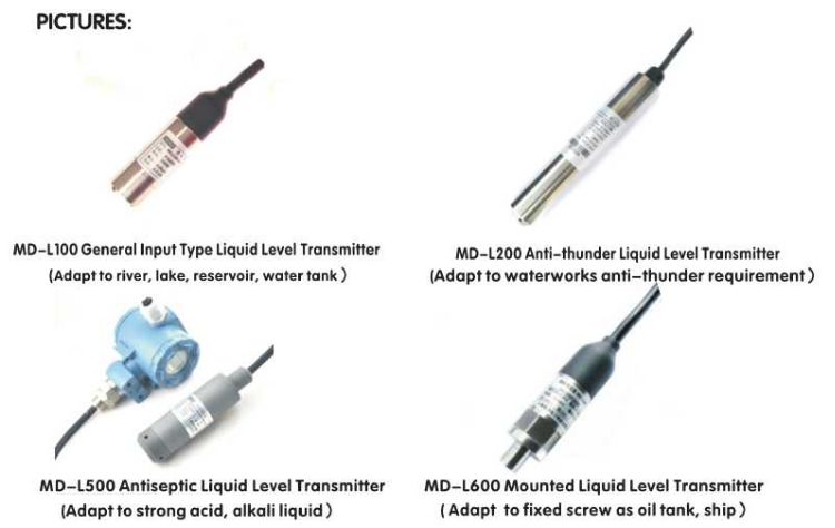 MD-L100 0-5V 4-20mA capacitive water coolant lpg level sensor