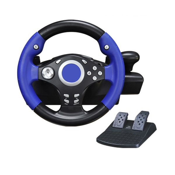 2017 factory price vibration racing vidoe gaming steering wheel for ps2, ps3, pc USB