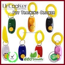 Pet Training Clicker plastic colourful dog clicker for training Dog trainer wholesale