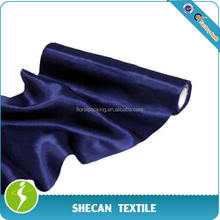 100%Poly wedding marine blue satin fabric roll