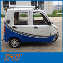 tuk tuk model bajaj rickshaw closed steel cabin safest driving three wheeler taxi with 60v/1000w motor high speed