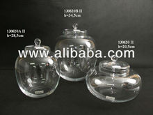 Glass candy holder food container