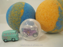 2017 kid friendly bath bombs with a surprise squinky vehicle inside