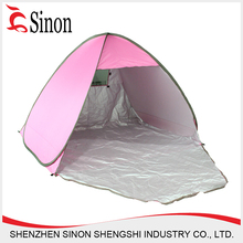 pink pop up 2 person canvas camping tent (custom)
