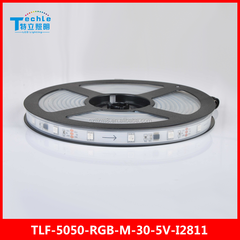 5050 RGB Magic WS2811 30 led/m DC 12V addressable DMX LED STRIP lighting Silicon Tube waterproof wholesales price