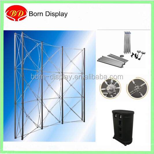 PVC panels pop up expandable frame stand 3*3 for outdoor backdrop wall