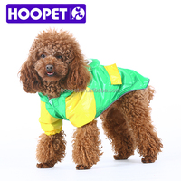 2016 Hoopet new arrival cute green frog dog raincoats for large dog