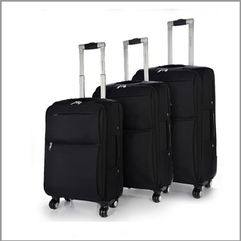 2016 new products eminet 3pcs set comfortable handle soft luggage trolley luggage
