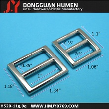 Metal pin buckle 1 inch tri-glide for belt