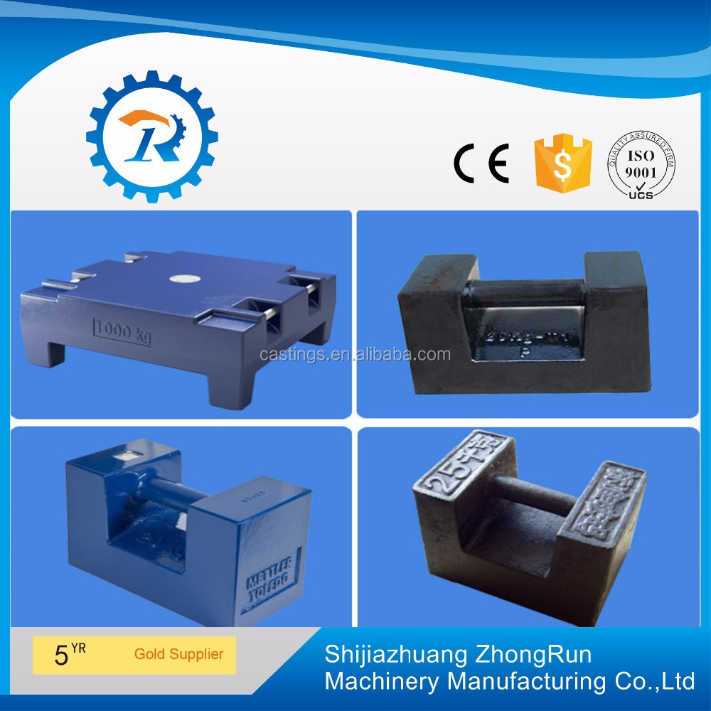 20kg 500kg 1000kg cast iron casting weight , crane counter weight