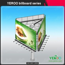 Outdoor three sided billboard manufacturers led light billboard advertising equipment